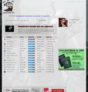 vampirestat.com Screen