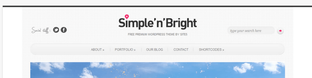 Simple'n'Bright  Theme