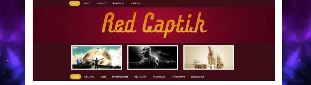 Red Captik WordPress Theme