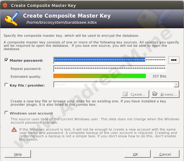 Master Key Keepass