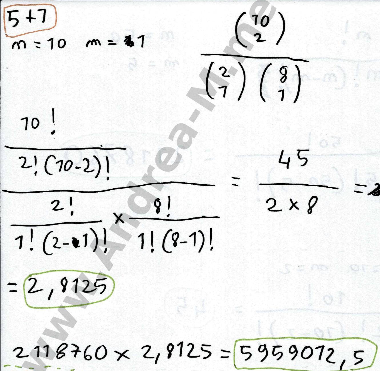 Calcolo Probabilità EuroJackpot