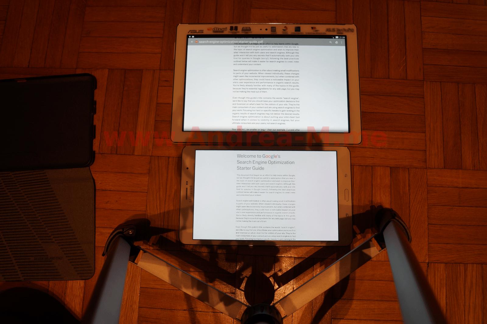 Tablet a Confronto in Modalità Landscape Senza Zoom