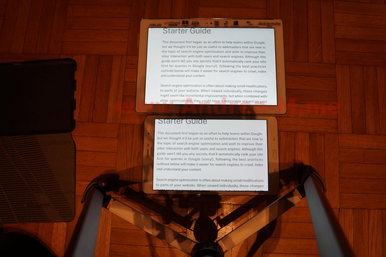 Tablet a Confronto in Modalità Landscape Con Zoom