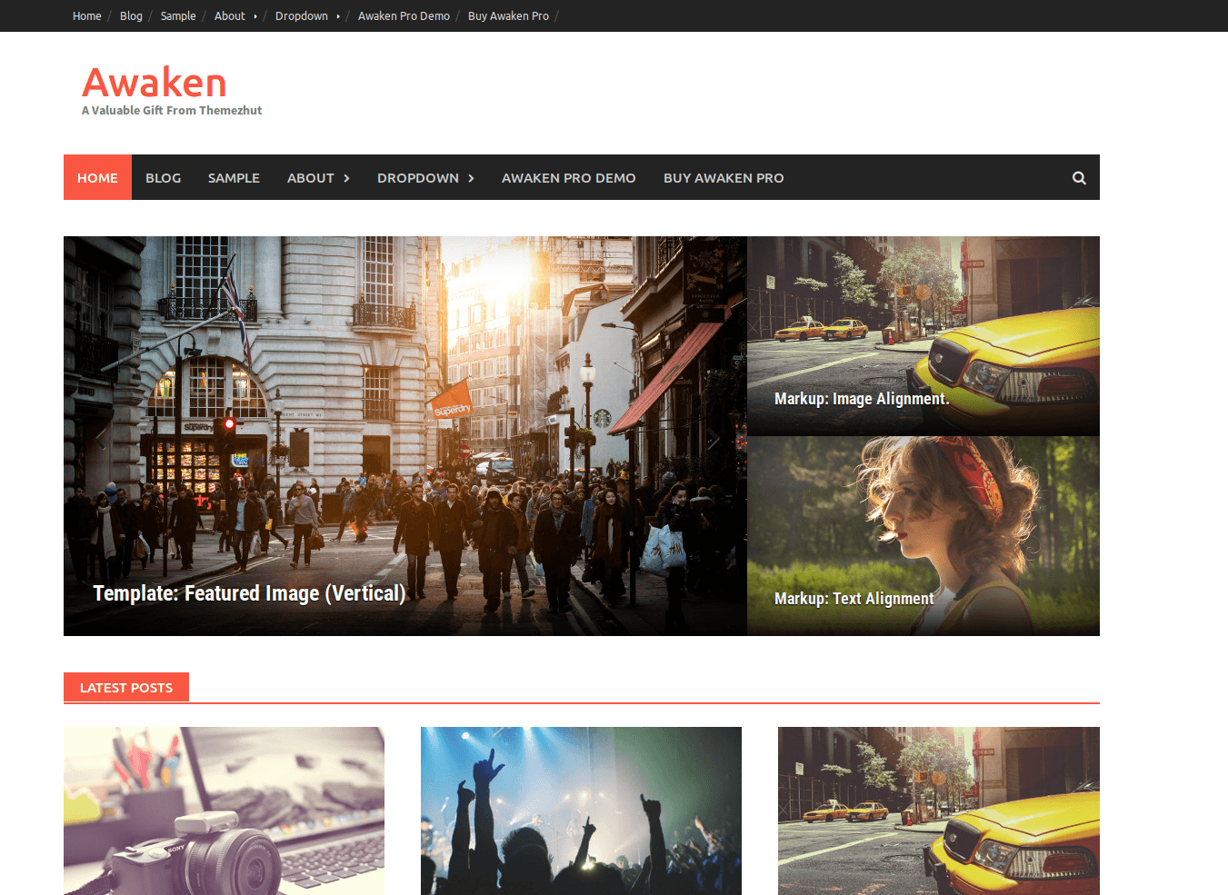 Tema WordPress Gratis Awaken