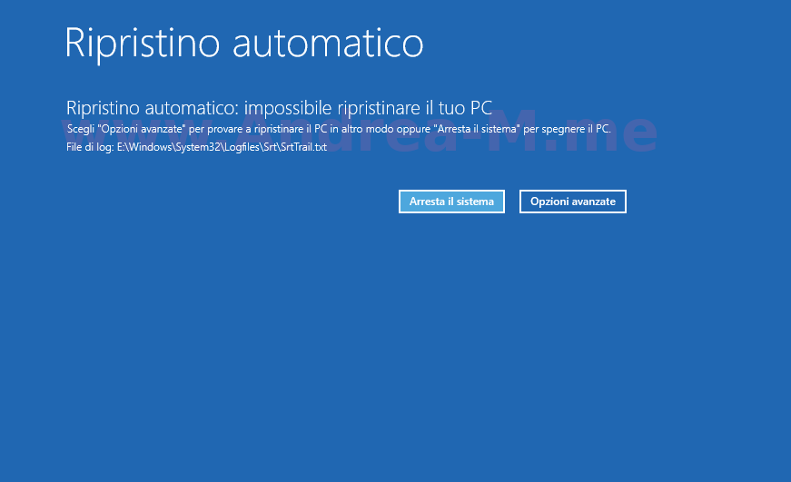 Ripristino Automatico Windows 10